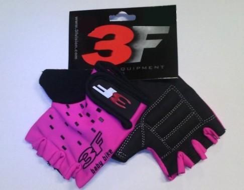 Cyklistické rukavice 3F 1527 Kids 4