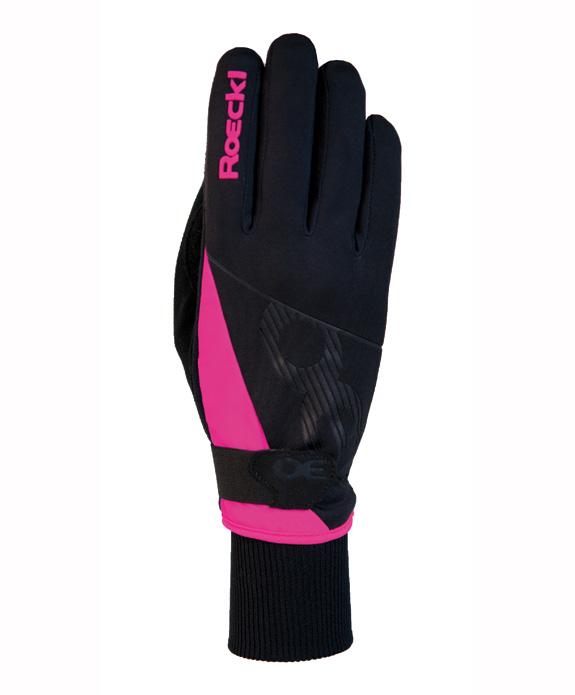 a494bf5525b Běžecké rukavice Roeckl Evo Black Pink vel.6