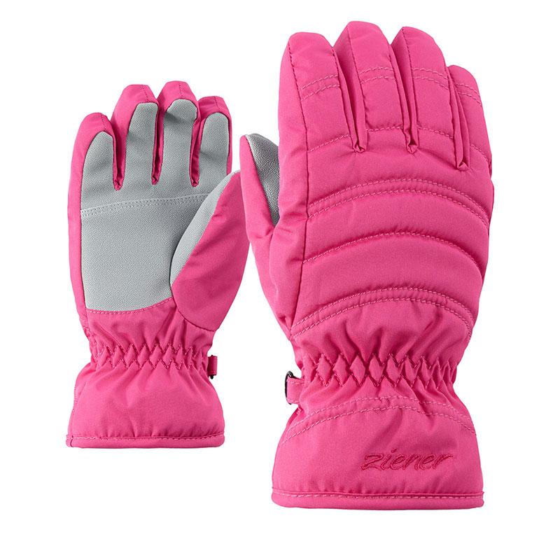 Rukavice Ziener Lela Girls Junior Pop Pink vel.3 08bde8ddae
