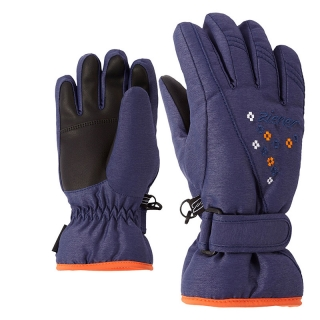 Rukavice Ziener Limonia Girls Junior Blue Navy Melange