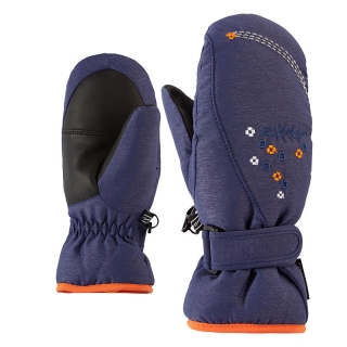 Rukavice Ziener Lisyo Mitten Girls Junior Blue Navy Melange